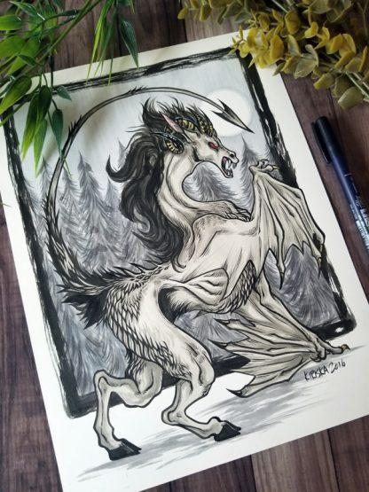 Original art of the Jersey Devil