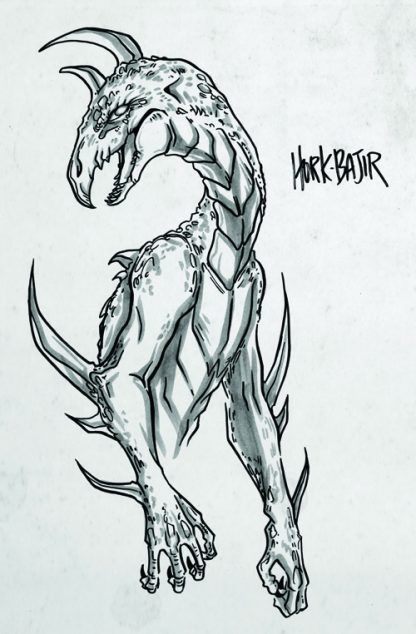 Drawing of a Hork-Bajir from Animorphs