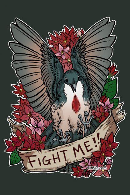 A bleeding heart dove and bouvardia flowers