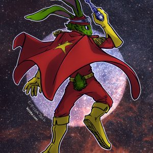 Original art of Captain Bucky O'Hare