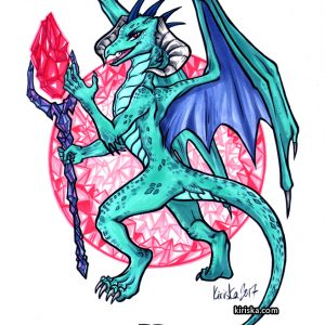 Original art of Ember the dragon from My Little Pony