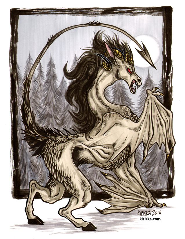 Original drawing of the Jersey Devil