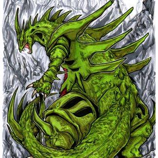 Original drawing of the Pokemon Mega Tyranitar