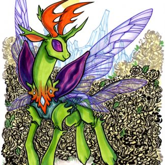 Original art of Thorax the changeling from My Little Pony