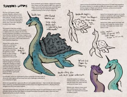 Page of Lapras Pokemon crossbreed imaginings.