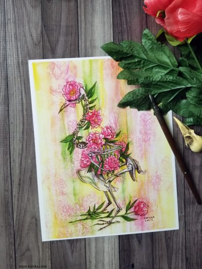 Print of a watercolor painting