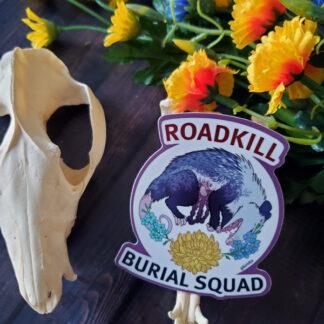 Roadkill Burial Squad sticker