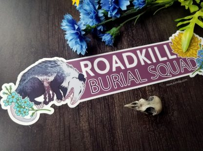 Roadkill Burial Squad bumper sticker