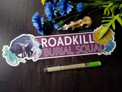 Roadkill Burial Squad bumper sticker