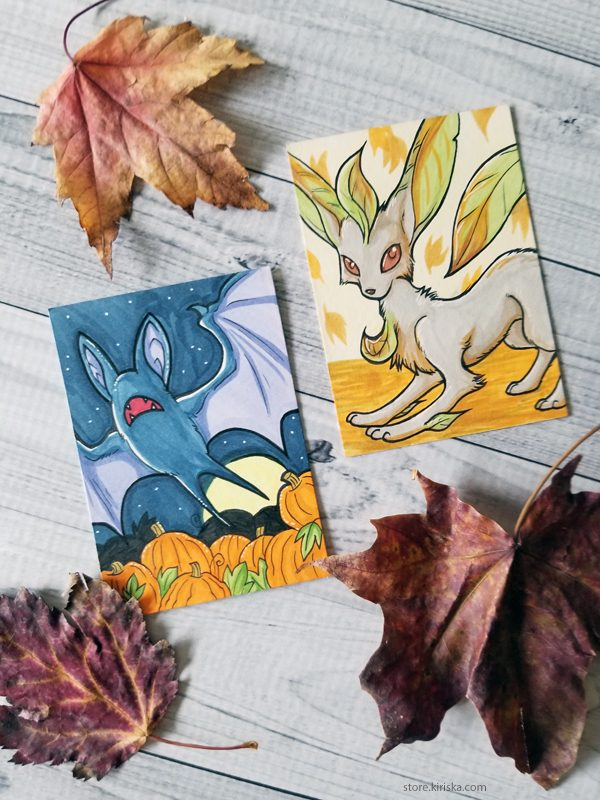 Fall Pokemon ACEOs