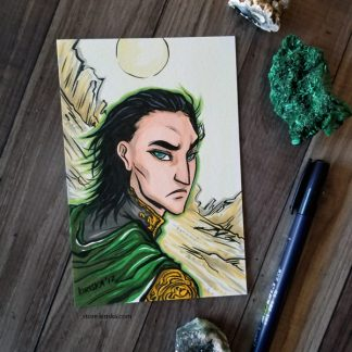 Original drawing of Loki
