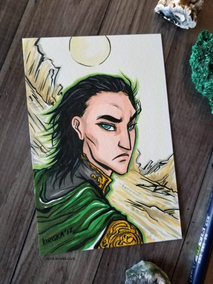 Original drawing of Loki