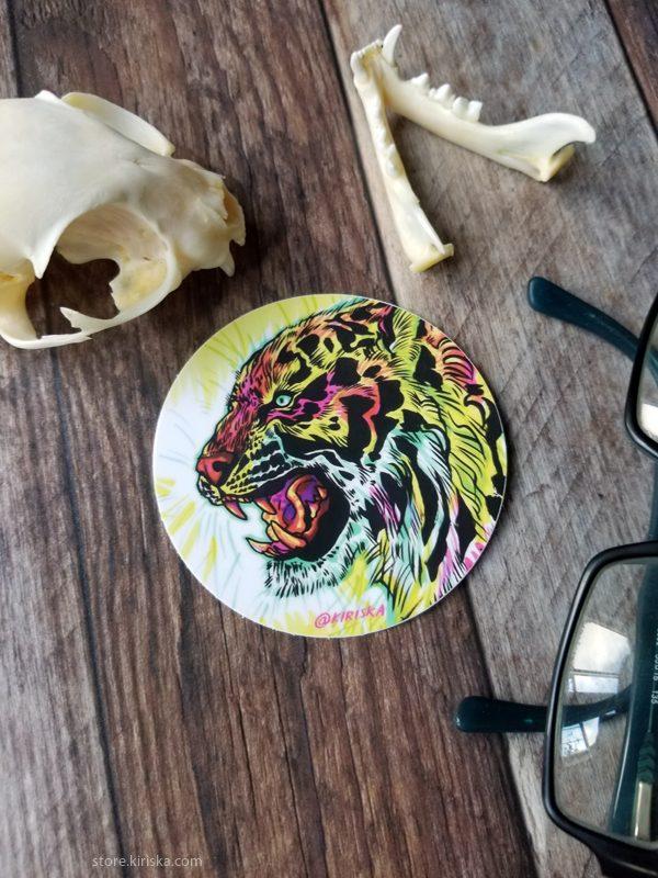 Fluorescent Tiger sticker