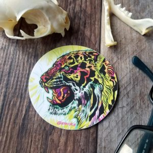 Fluorescent Tiger sticker