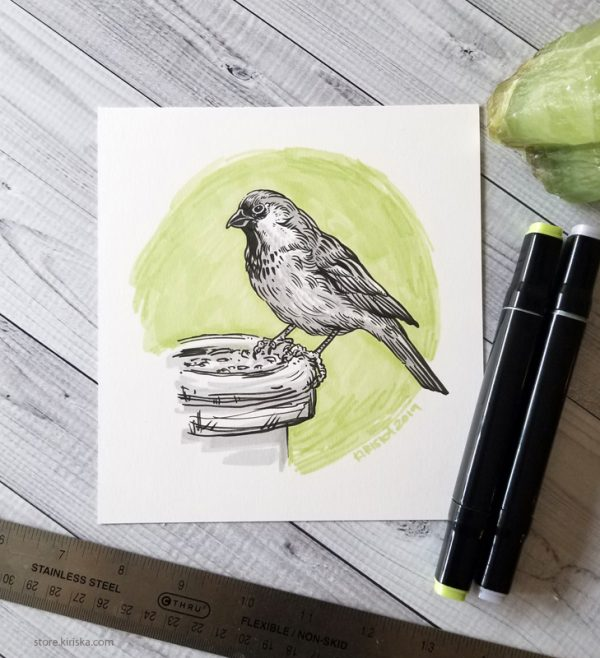 Sparrow drawing