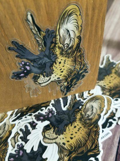 Serval horror sticker