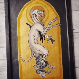Original painting of St. Guinefort by Kiriska
