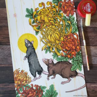Original drawing of the Rat of Chinese zodiac