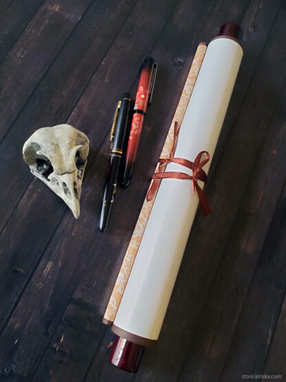 Galarian Moltres original scroll art