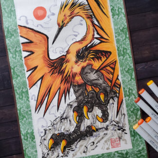 Galarian Zapdos original scroll art