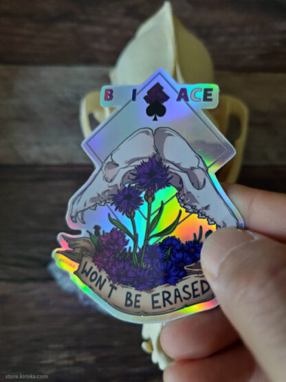 BiAce holographic sticker