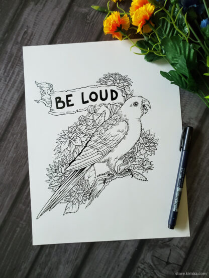 Be loud! King parrot