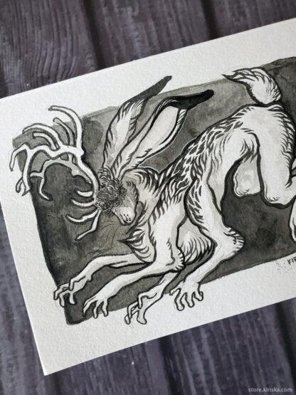 Run, Run original drawing