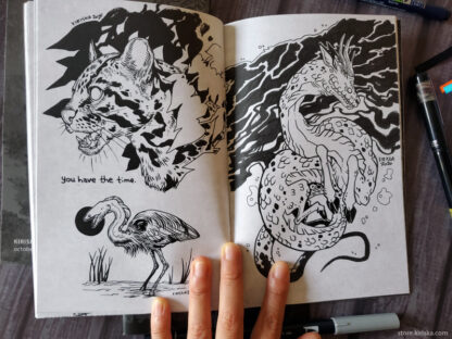 Original sketch zine, Shadows volume 2