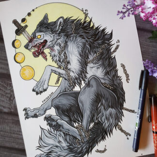 Fenrir original drawing