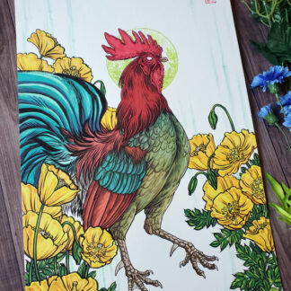 Original drawing for Year of the Rooster