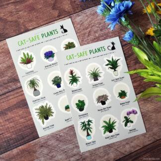 Cat-safe plant stickers