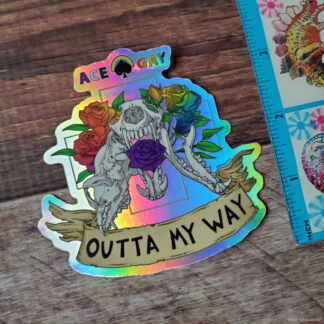 Ace Gay holographic stickers