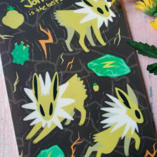 Jolteon sticker sheet